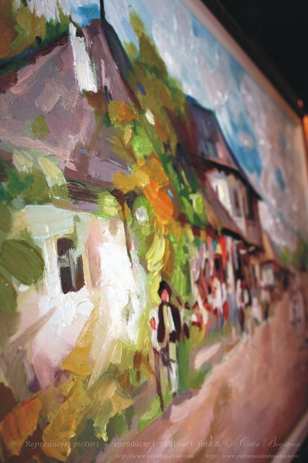 Cârciuma de la Rucăr pictură pete detaliu