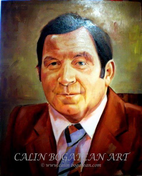portret de barbat in ulei