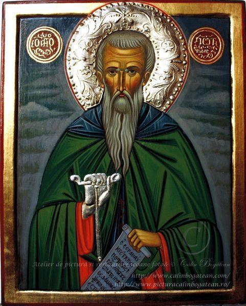 Sfântul Ioan de la Rila icoană bizantină pictură pe lemn