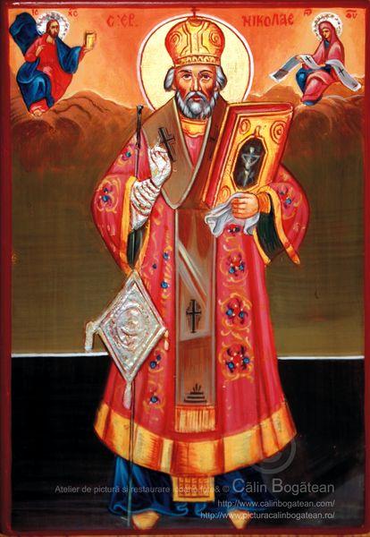 Sfântului Nicolae de la mănăstirea Căldărușani reproducere icoană copie