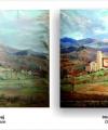 Restaurare tablou peisaj cu clădiri