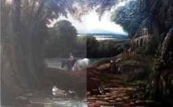 Restaurare tablou îndepărtare verni