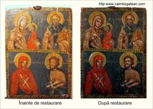 Restaurare icoană în două registre