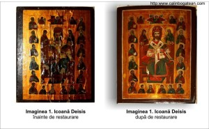 Restaurare icoană Deisis