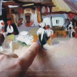 Cârciumă la Rucăr reproduceri tablouri după lucrarea de Nicolae Grigorescu