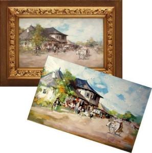 Reproduceri pictură românească pictură în ulei pe pânză la comandă