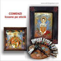 comenzi icoane pe sticlă picturi naive la comandă icoane tradilionale pictate pe sticlă