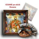 Icoane pe sticlă Roxana picturi originale în tempera cu ou