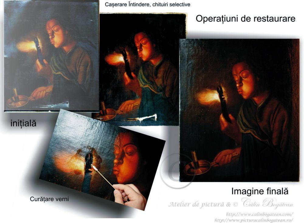 Operațiuni de restaurarer pictură