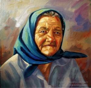 Portret bust pictură pe pânză