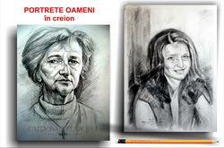 Portrete oameni în creion