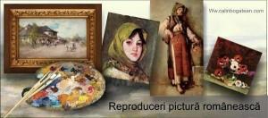 Prețuri reproduceri pictură românească peisaje, flori