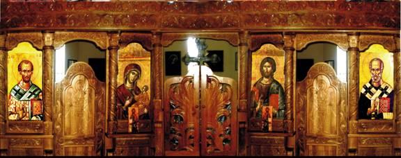 Iconostas icoane pictate pentru catapeteasmă