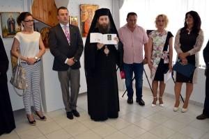 Expozitie de icoane picturi pe lemn și pe sticlă de Călin, Raluca și Roxana Bogatean la Gyula Ungaria 2016