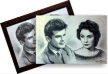 pret portret două personaje preț desen portret preț grafică un personaj bust