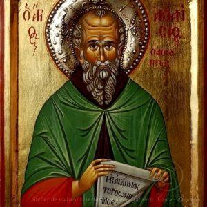 Sfântul Atanasie Atonitul icoană pictură pe lemn
