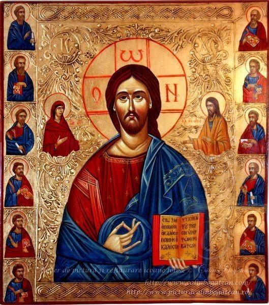 strongDeisis-Iisus-Hristosstrong-Deisis-icoană-pe-lemn-cu-Iisus-Hristos-pictură-bizantină-pe-lemn-lucrare-de-artă-ortodoxă-în-tehnica-tempera-pe-lemn-Icoană-cu-Iisus-executată-la-comandă-după-model-iconografic-din-muntele-Athos-icoană-de-vânzare-picturi-de-Călin-Bogătean