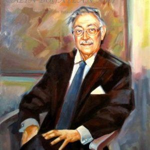 Portret de bărbat pictură pe pânză