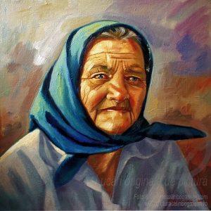 Portret de femeie pictură pe pânză