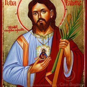 Sfântul Apostol Iuda Tadeu, Sfântul cauzelor imposibile, Sfântul Iuda Tadeu, Sfântul Iuda Tadeu icoană, icoane pe lemn, pictură pelemn, sfântul Iuda tadeu pictură, sfântul Iuda tadeu rugăciune,icoană pe lemn, pictură pe lemn, icoană bizantină, Sfântul Iuda Tadeupictură