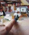 Pictură personaje Cârciuma de la Rucăr