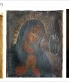Restaurare  pictură religioasă Madona rugându-se