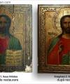 Restaurare icoană Iisus Hristos pictură rusă