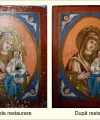 Restaurare  icoană Maica Domnului cu Pruncul