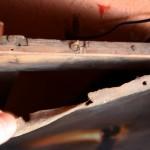 Restaurare tablou fetita cu jar demontare pânză