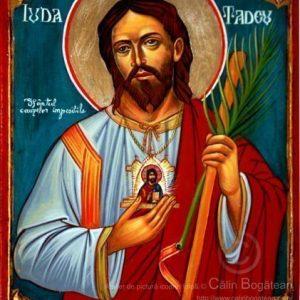sfântul Iuda tadeu, Sfântul Apostol Iuda Tadeu, Sfântul cauzelor imposibile, sfântul Iuda tadeu icoană, icoane pe lemn, pictură pelemn, sfântul Iuda tadeu pictură, sfântul Iuda tadeu rugăciune, icoană, icoană bizantină, pictură, în tempera, pe lemn, artă ortodoxă, icoană pe lemn, icoană sfânt, de vânzare, la comandă, calinbogatean, tehnica, sfinți, pictură pe lemn, icoană făcătoare de minuni