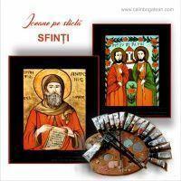 Icoane pe sticlă cu sfinți