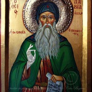 Sfântul David din Evia icoamă pictură pe lemn