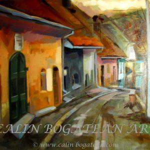 Stradă în cetatea Sighișoara